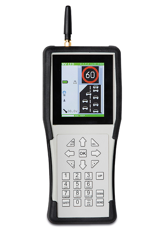 Optional remote control with illuminated graphic LCD display