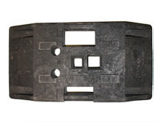 K1 beacon base plate for road barrier and TL mounting devices