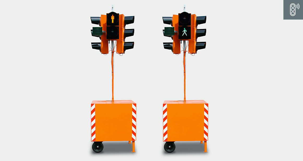 Portable traffic light systems / Mobile pedestrian signal system